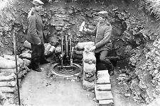 "WW1 - Guerre 14/18 - Mortier de 76 mm allemand ou ""Minenwerfer"""