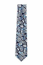 Borrelli Napoli Hand Made Silk Blue Striped Neck Tie New With Tags BT65