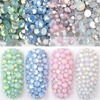Multi Size DIY Opal Nail Rhinestones Crystal Glass Gems For UV Gel 3D Nail Art