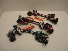 3 Pcs Small Knotted Dog Rope Toy Fun Pet Set Kit Colorful Bone Chew Tug Fetch