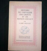 Histoire du chevalier des grieux et de Manon Lescaut par l'Abbé Prévost gravures