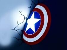 Decorative wall Led Lamp Marvel Captain Shield 3D Avengers wall light gift