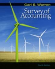 Survey of Accounting by Carl S. Warren (2008, Hardcover) Very Good condition