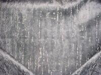 5-1/8Y Clarke & Clarke F0750/13 Aurora Steel Velvet Drapery Upholstery Fabric