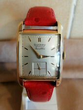 VINTAGE ROTARY 9K WATCH ART DECO CURVED & BEVELLED CASE 1959.see details