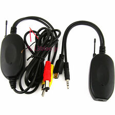 Wireless Car SUV Rear View Camera Monitor RCA Video Transmitter & Receiver Kit