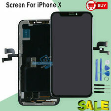 For iPhone X 10 5.8'' LCD Display OLED Touch Screen Assembly Replacement Black