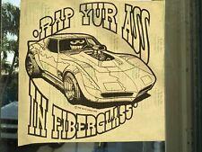 Vintage Rat's Hole 1976 Corvette Shirt Heat Transfer Rap Your Ass in Fiberglass