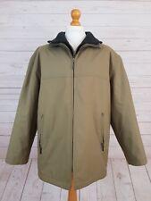 Kurt Muller Men's Beige Double Layer Zip Up Trench Coat Jacket Size L