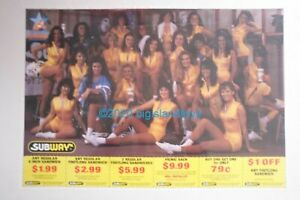 1992 Detroit Drive Arena Football Team Cheerleaders Subway Advertising Poster