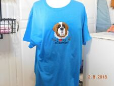 NEW I LOVE MY SAINT BERNARD EMBROIDERED T-SHIRT ADD NAME FOR FREE