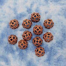 Antique Copper Alloy Metal Decorative Bead Caps 20 Pieces 10.9mm #0182
