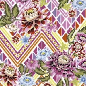 4 x paper napkins for decoupage, crafts, scrapbooks - Mexican Flowers