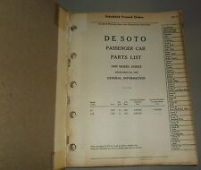 1940 DE SOTO PARTS LIST ORIGINAL MANUAL S7
