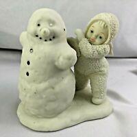 DEPT 56 SNOWBABIES YOU NEED WINGS TOO BISQUE PORCELAIN SNOWMAN ANGEL BABY FIGURE
