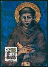 GERMANY MK 1982 SAINT ST. FRANCIS OF ASSISI ASIS CARTE MAXIMUM CARD MC CM ef06