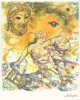 "Jannis PSYCHOPEDIS - ""GREEK MYTHOLOGY"" Open Edition Giclee Print 2010"
