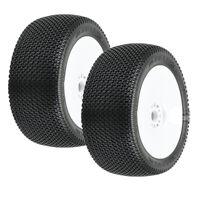 Pro-Line 9064-32 Slide Lock Off-Road 1:8 Buggy Tires Wht Whls (2): Front / Rear