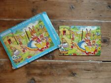 Vintage Victory Hand Cut Wooden Jigsaw Puzzle No.7341 Rabbits 12 piece COMPLETE