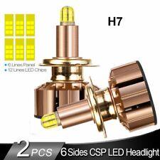 6-Side H7 LED Headlight Kit 360° COB Hi/Lo Beam Bulbs 2000W 380000LM 6000K White
