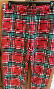 Jammies for Families Men's Flannel Pajama Pants Christmas Plaid Red Green 2XLT