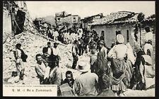 cartolina ZUMMARO' sua maestà il re a..(terremoto 1905) pro calabria