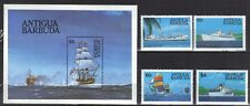 ANTIGUA & BARBUDA. SHIPS MINI SHEET AND SET 1984 MNH