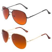 HD High Definition Vision Driving Golf Sunglasses Aviator Blue Blocker Lens New