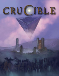 CRUCIBLE RPG CORE BOOK fantasy scifi roleplay Cosm Games Campaign Coins
