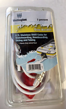 Wellington Marine 1 Person Boat Ski Tow Bridle 8' Stainless Steel Cable Rope