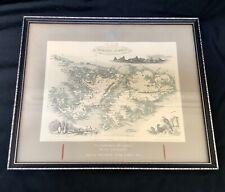 1851 ANTIQUE MAP FALKLANDS PRESENTED TO 29 COMMANDO RA REGIMENT TASK FORCE 1982
