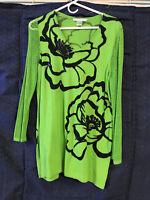 VTG Peter Nygard Cotton Blend Embellished Beaded Embroidered Shirt Size L BOHO