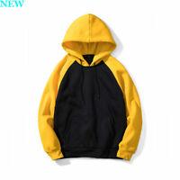 Mens Hoodie Coat Long Sleeve Workout Pullover Sweatshirt Casual Hooded Tops