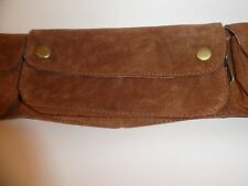 SUEDE HANDMADE BUM BAG , WAIST HIP UTILITY BAG FESTIVAL  HIPPY TRAVEL FANNY PACK