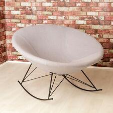 Ozzy Round Designer Felt Rocking Chair / Grey / Unique Bowl Seat / Accent Chair