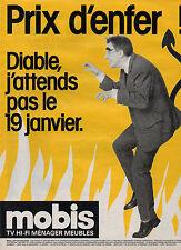 Publicité 1986  Magasin MOBIS  TV HI-FI MENAGER MEUBLES