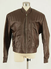 Unworn! vintage 70s Leather Motorcycle Bomber Jacket 44