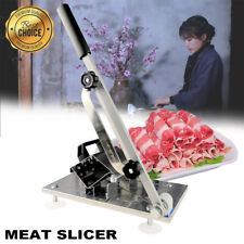 Adjustable Manual Frozen Meat Food Slicer Stainless Steel Beef Cutter Bbq Hot
