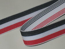 """3 yards 1"""" width in red, white &dark navy blue color heavy duty high end elastic"""
