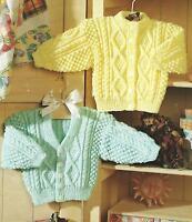 "Baby Girls Boys Knitting Pattern Cardigans 16-26"" Double Knitting 218"