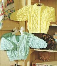 "Baby Girls Boys Knitting Pattern Cardigans 16-26"" Double Knitting 218"