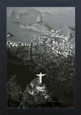 RIO DE JANEIRO 13x19 FRAMED GELCOAT POSTER PHOTOGRAPHY JESUS CHRIST STATUE GIFT!