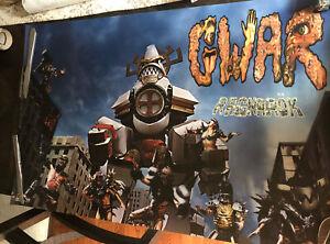 GWAR POSTER 1995 BY Abe Spear Rare Ragnarok Poster 35 X 23 in.