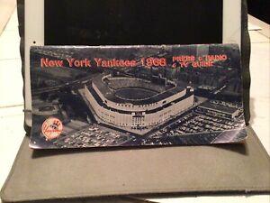 New York Yankees Press Guide -- 1968