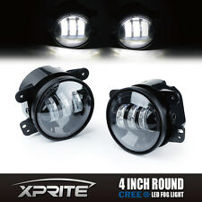 "Xprite 4"" Round LED Offroad Fog Lights DRL Lamp for 07-17 Jeep Wrangler JK TJ CJ"