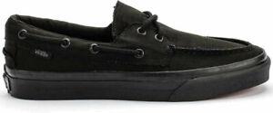 Vans Zapato Del Barco Canvas Black Black Mens Shoes VNOXC3186 Size 5 US