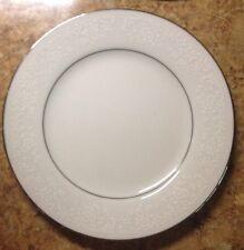 """Noritake Tahoe White/Silver Contemp. Fine China 2585 6-1/4"""" Bread Side Plate"""