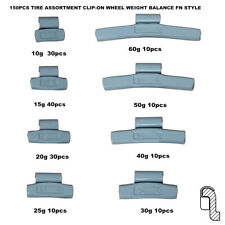 NEW BRAND 150PCS TIRE ASSORTMENT CLIP-ON WHEEL WEIGHT BALANCE FN STYLE