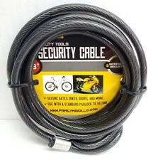 """70.9"""" SECURITY CABLE GUARD LOCK MOTORCYCLE SCOOTER BIKES GATES DOORS NEW 16477"""