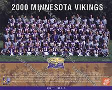 2000 MINNESOTA VIKINGS NFL FOOTBALL TEAM 8X10 PHOTO PICTURE